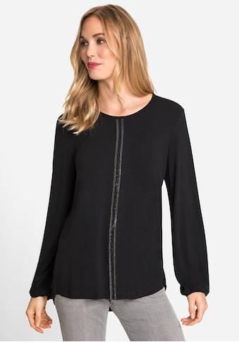 Olsen Rundhalsshirt, mit schimmernder Verzierung vorne kaufen
