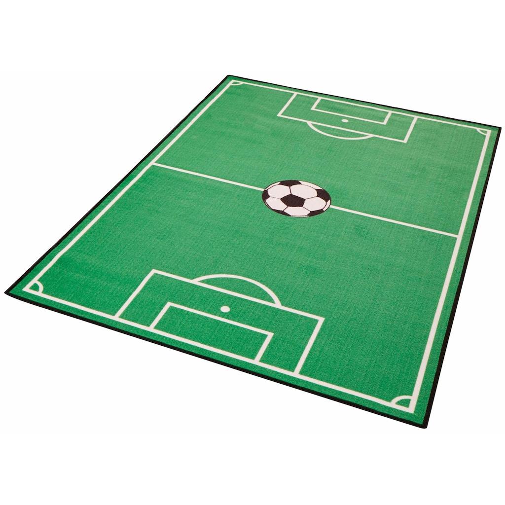 Zala Living Kinderteppich »Fußballfeld 1«, rechteckig, 8 mm Höhe, Kurzflor, Fußball Spielteppich