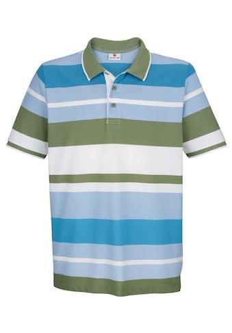 Boston Park Poloshirt mit garngefärbtem Streifenmuster kaufen