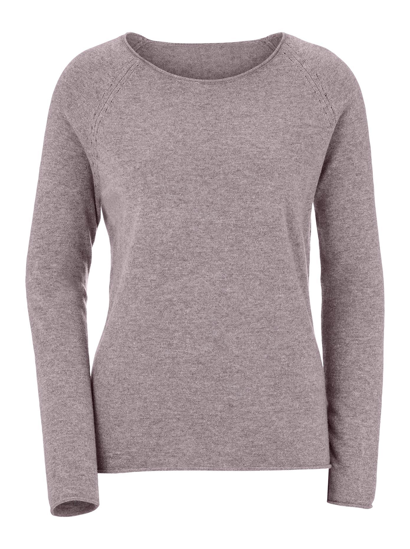 ambria -  Pullover mit feinem Ajour-Muster