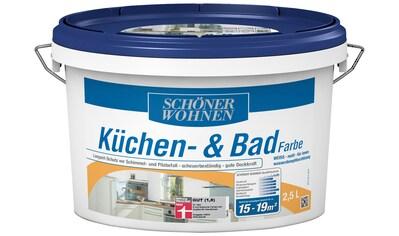 SCHÖNER WOHNEN FARBE Feuchtraumfarbe »Küchen -  und Badfarbe, weiss«, 2,5 l kaufen