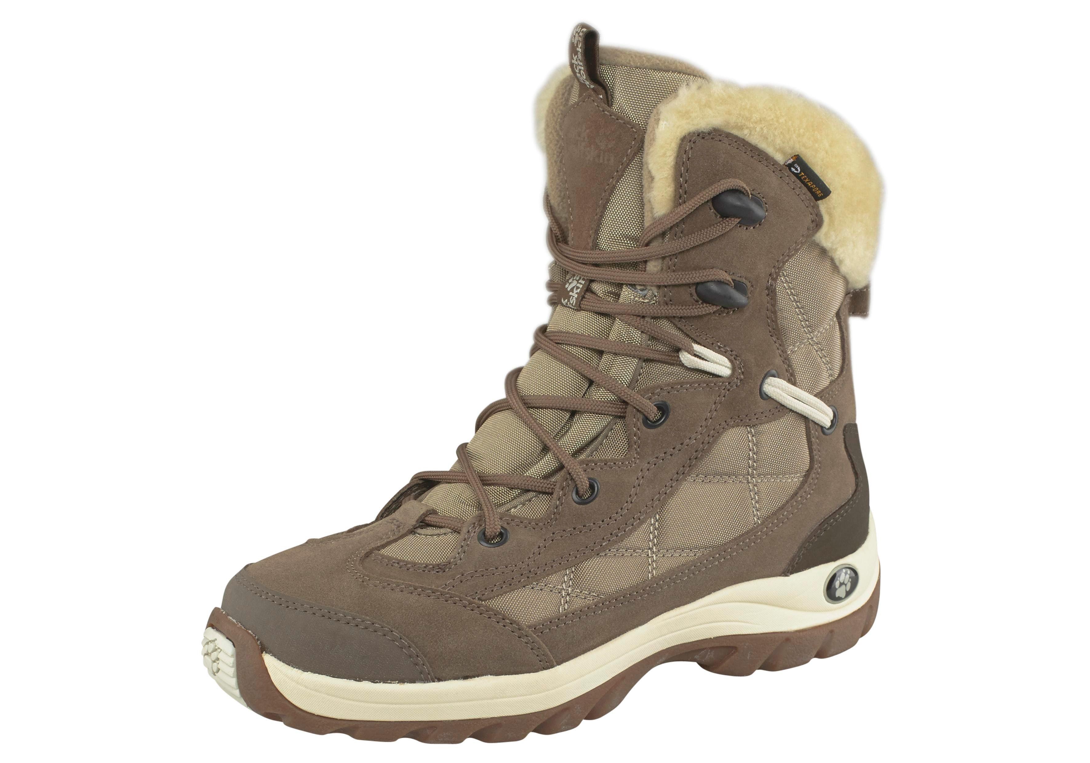 Jack Wolfskin Outdoorwinterstiefel »Icy Park Texapore Women« | Schuhe > Outdoorschuhe > Outdoorwinterstiefel | Beige | JACK WOLFSKIN
