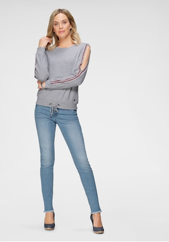 Arizona Sweatshirt »mit Cold Shoulder und Tunnelzug« kaufen