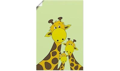 Artland Wandbild »Giraffen«, Tiere, (1 St.), in vielen Größen & Produktarten - Alubild... kaufen