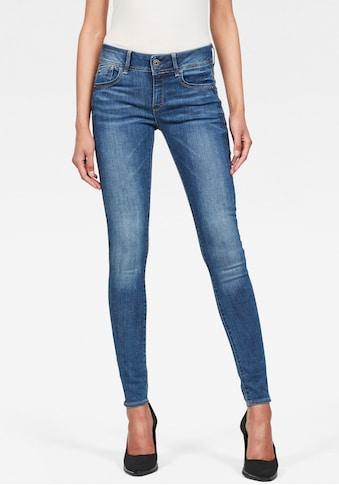 G-Star RAW Skinny-fit-Jeans »Lynn Mid Waist Skinny«, moderne und feminine Variante der... kaufen