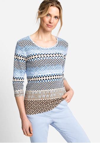 Olsen 3/4-Arm-Shirt, mit Allover-Print kaufen
