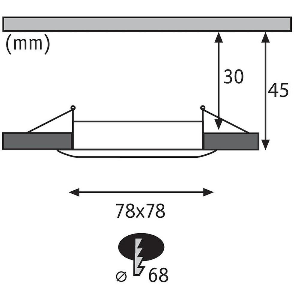 Paulmann LED Einbaustrahler »1er-Set dimmbar Coin Slim IP44 eckig 6,8W Alu«, 1 St., Warmweiß