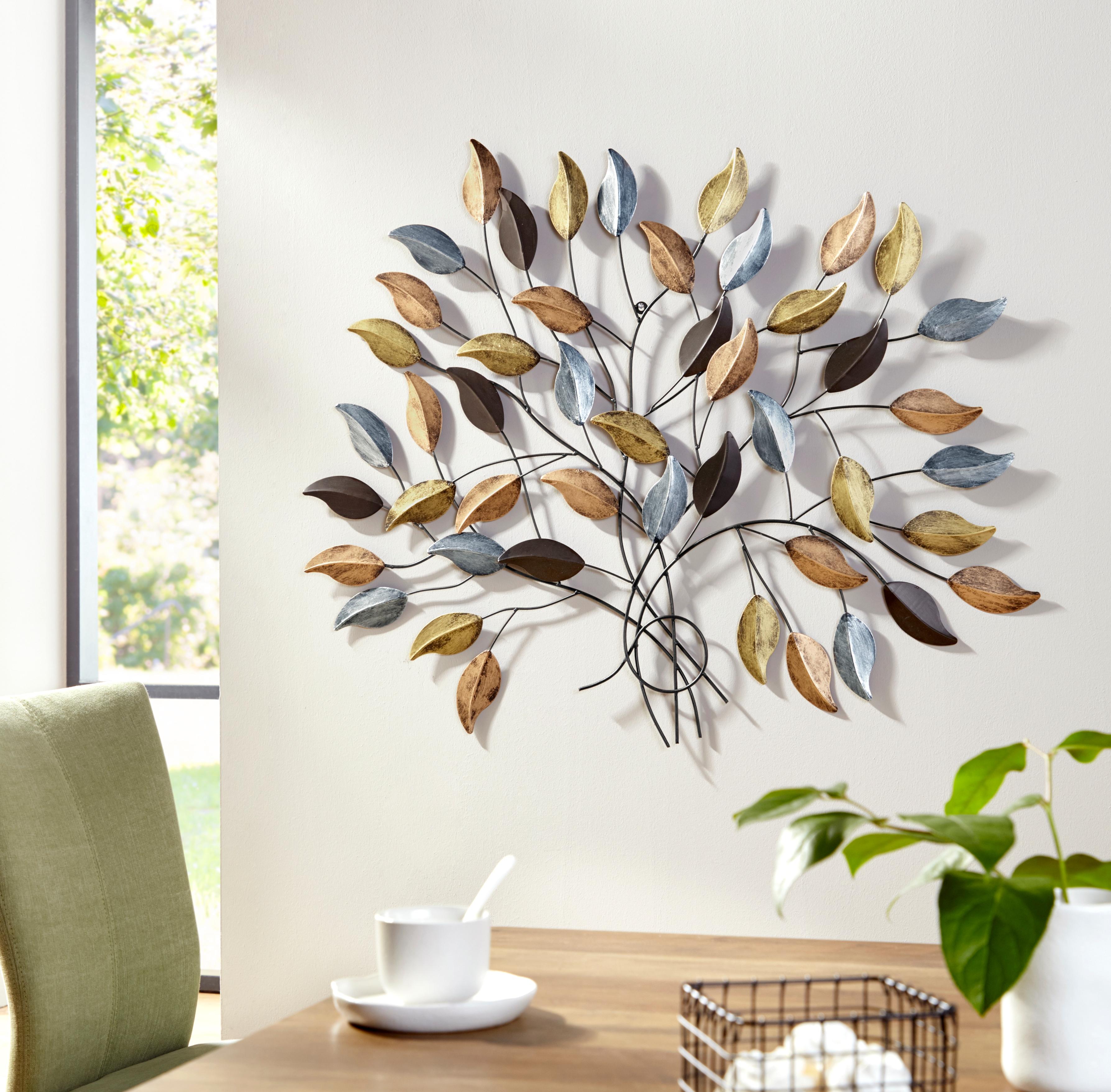 my home Wanddekoobjekt Fagus, Wanddeko, Wanddekoration, aus Metall bunt Wanddekoration Deko Wohnaccessoires