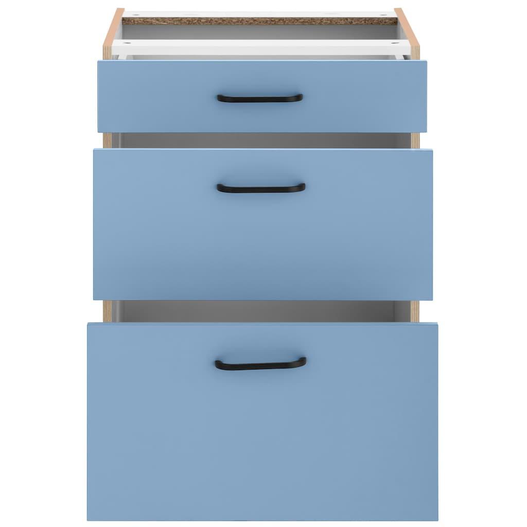 OPTIFIT Unterschrank »Elga«, mit Soft-Close-Funktion, großen Vollauszügen, höhenverstellbaren Füßen und Metallgriffen, Breite 60 cm