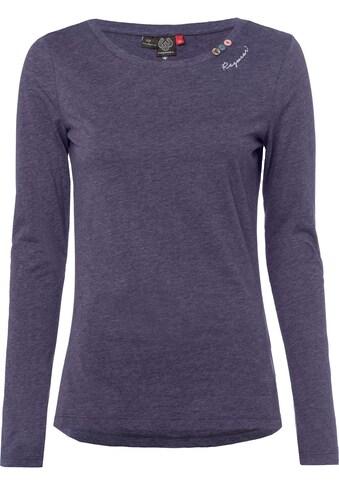 Ragwear Langarmshirt »FLORAH LONG«, in melierter Optik kaufen