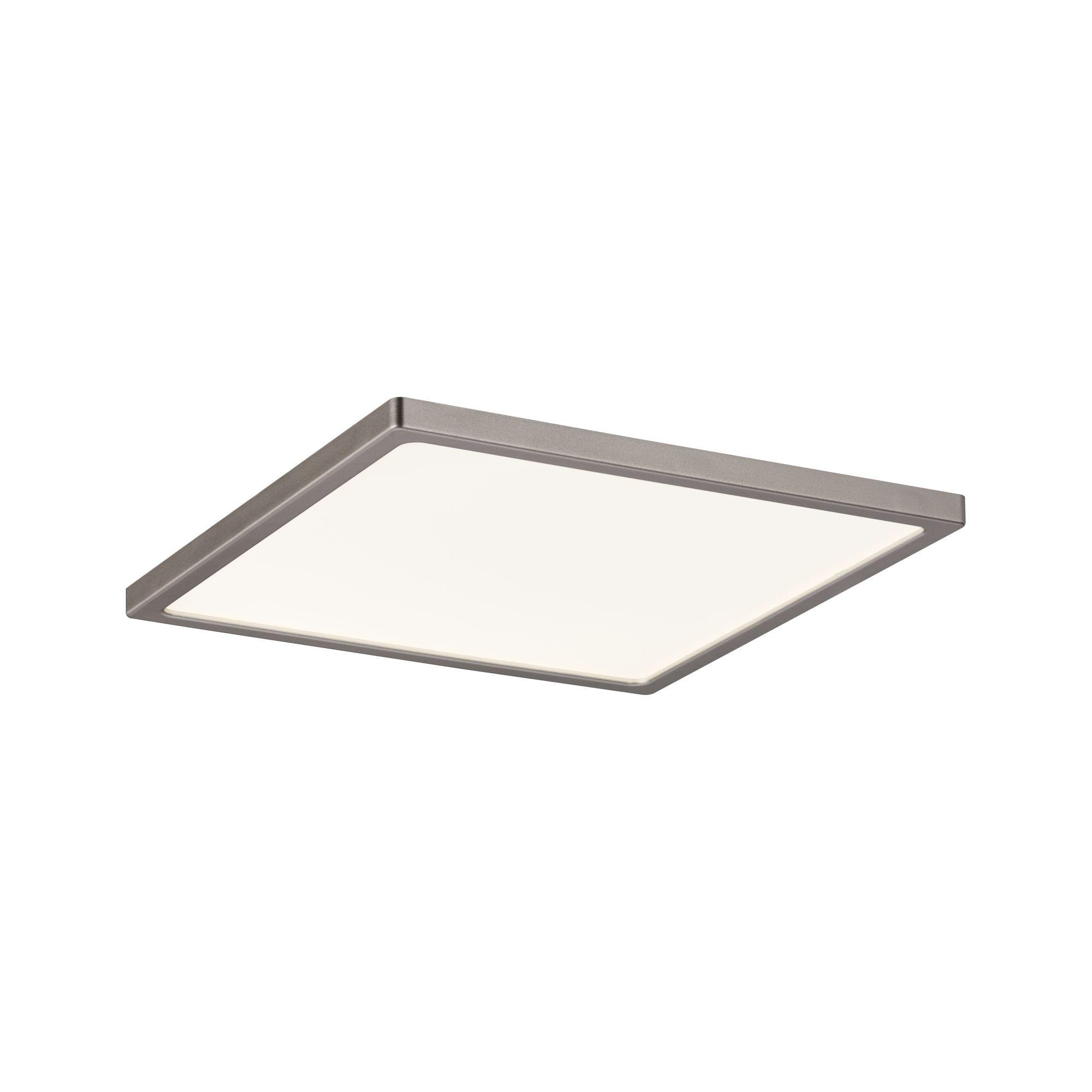 Paulmann LED Einbaustrahler Panel Areo IP44 eckig dimmbar 180x180mm 12W 3.000K Nickel matt, Warmweiß