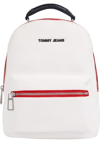 Tommy Jeans Cityrucksack »TJW FEMME PU BACKPACK«, mit modischen Kontrastnähten kaufen