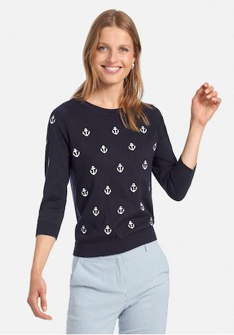 Peter Hahn 3/4 Arm-Pullover »aus Baumwolle PIMA COTTON« kaufen