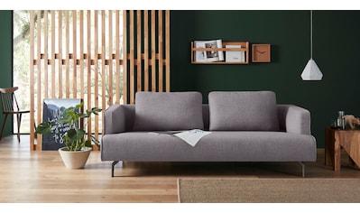 hülsta sofa 4-Sitzer »hs.440«, wahlweise in Stoff oder Leder, Gussfüße umbragrau kaufen
