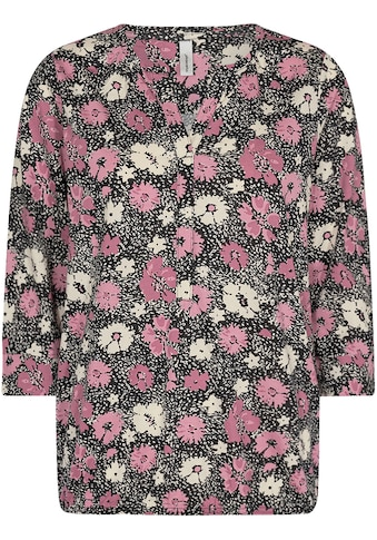 soyaconcept 3/4-Arm-Shirt »SC-FELICITY AOP321«, mit Blütenmuster auf dunklem Grund kaufen