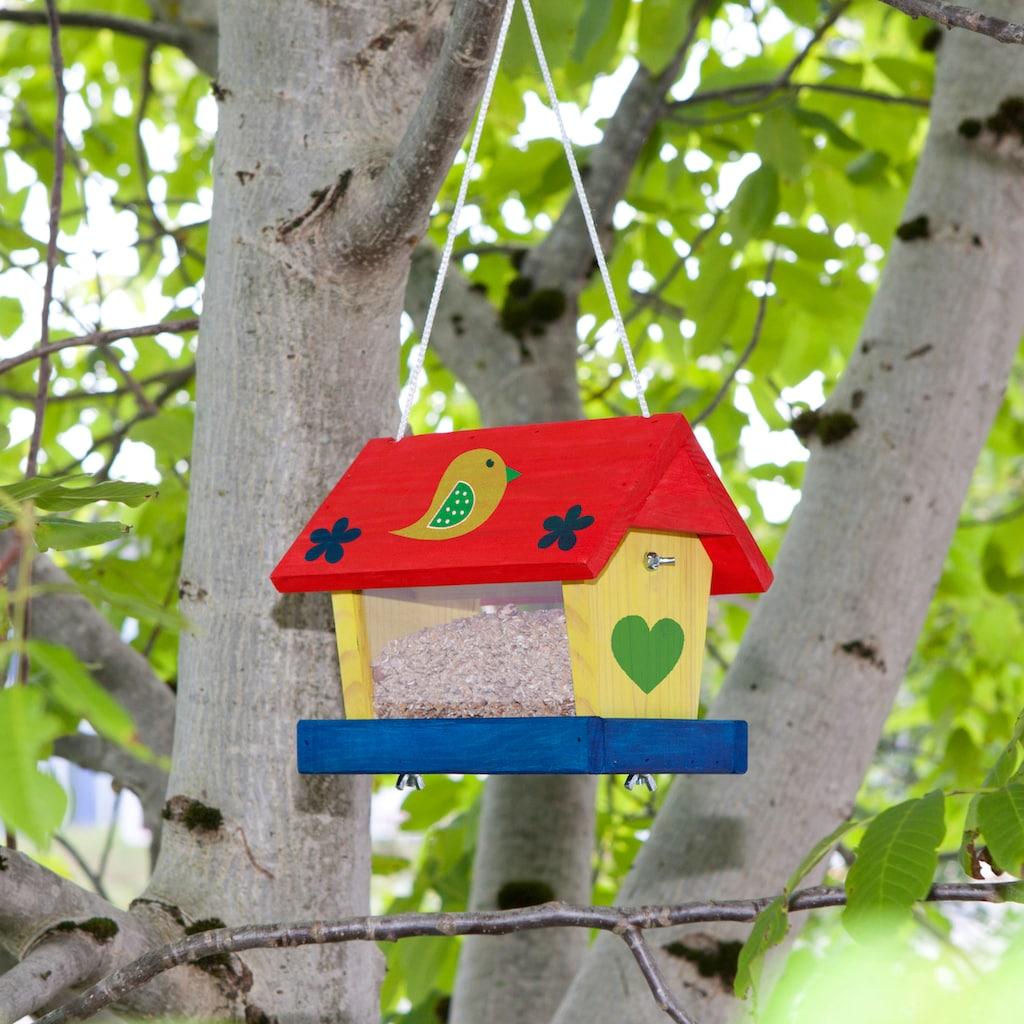 Windhager Vogelhaus »Woodpecker«, Bausatz inkl. Farbset zum Bemalen