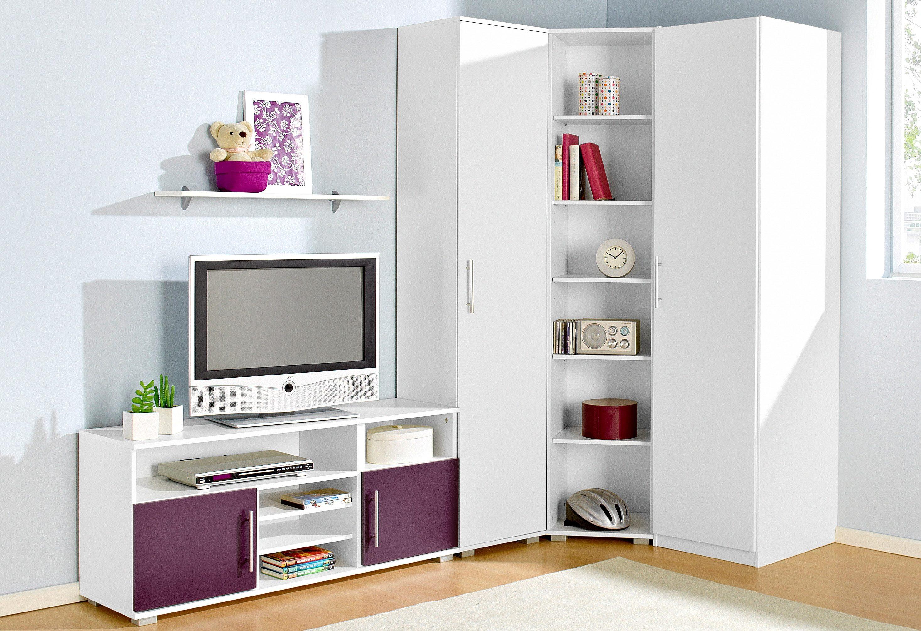 Jugendzimmer-Set (Set 5-tlg) | Kinderzimmer > Jugendzimmer > Komplett-Jugendzimmer | Lila