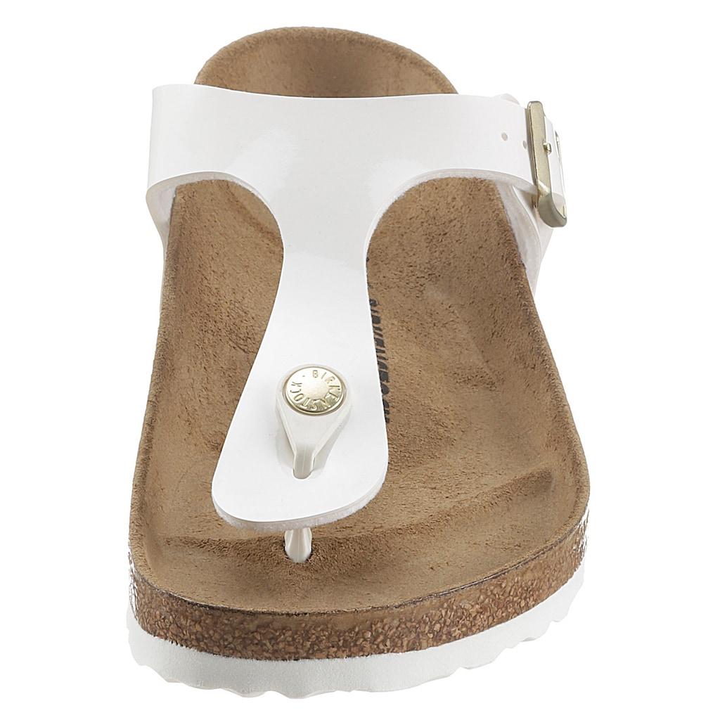 Birkenstock Zehentrenner »Gizeh_Patent«, mit verstellbarem Riemchen