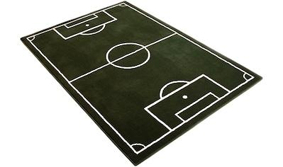 HANSE Home Kinderteppich »Fussballplatz«, rechteckig, 9 mm Höhe, Fußball, Spielteppich kaufen