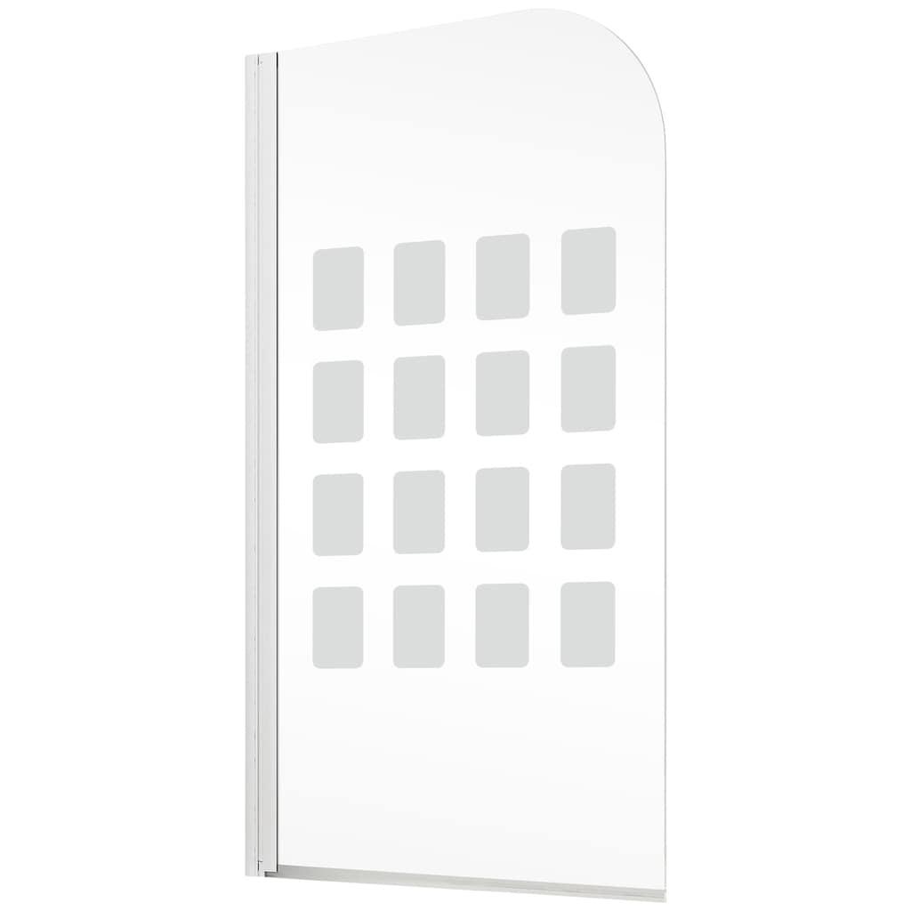 Schulte Badewannenaufsatz »Cubic«, BxH: 80 x 140 cm, mit Dekor Cubic, Komfort