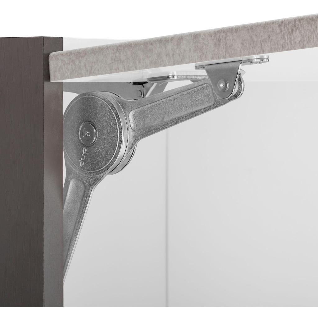 HELD MÖBEL Klapphängeschrank »Tulsa«, 50 cm breit, mit 1 Klappe, schwarzer Metallgriff, hochwertige MDF Front