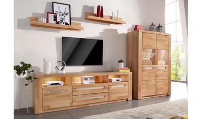 Wohnwand »Kolding«, (Set, 4 tlg.), teilmassives Holz kaufen