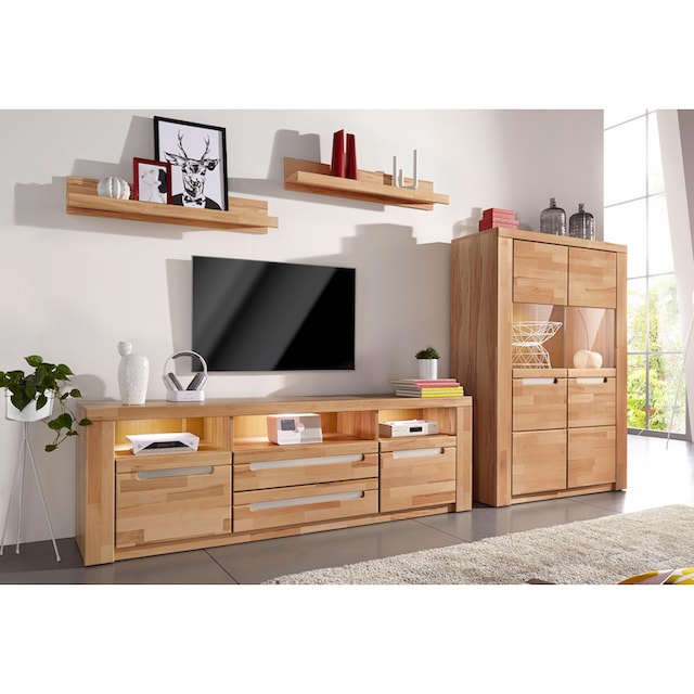 Woltra Wohnwand »Kolding«, (Set, 4 St.), teilmassives Holz