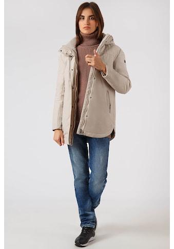 Finn Flare Outdoorjacke, mit Druckknopfleiste und Reißverschluss kaufen
