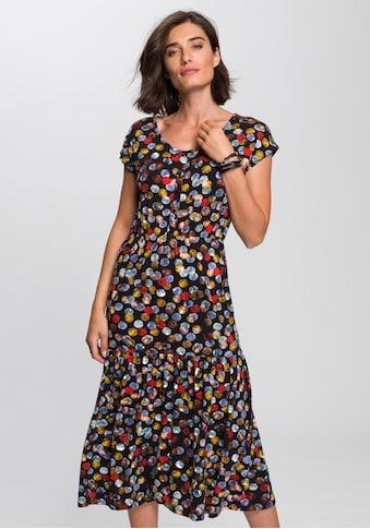Boysen's Jerseykleid, Mit süßem Druck und Volantrock kaufen