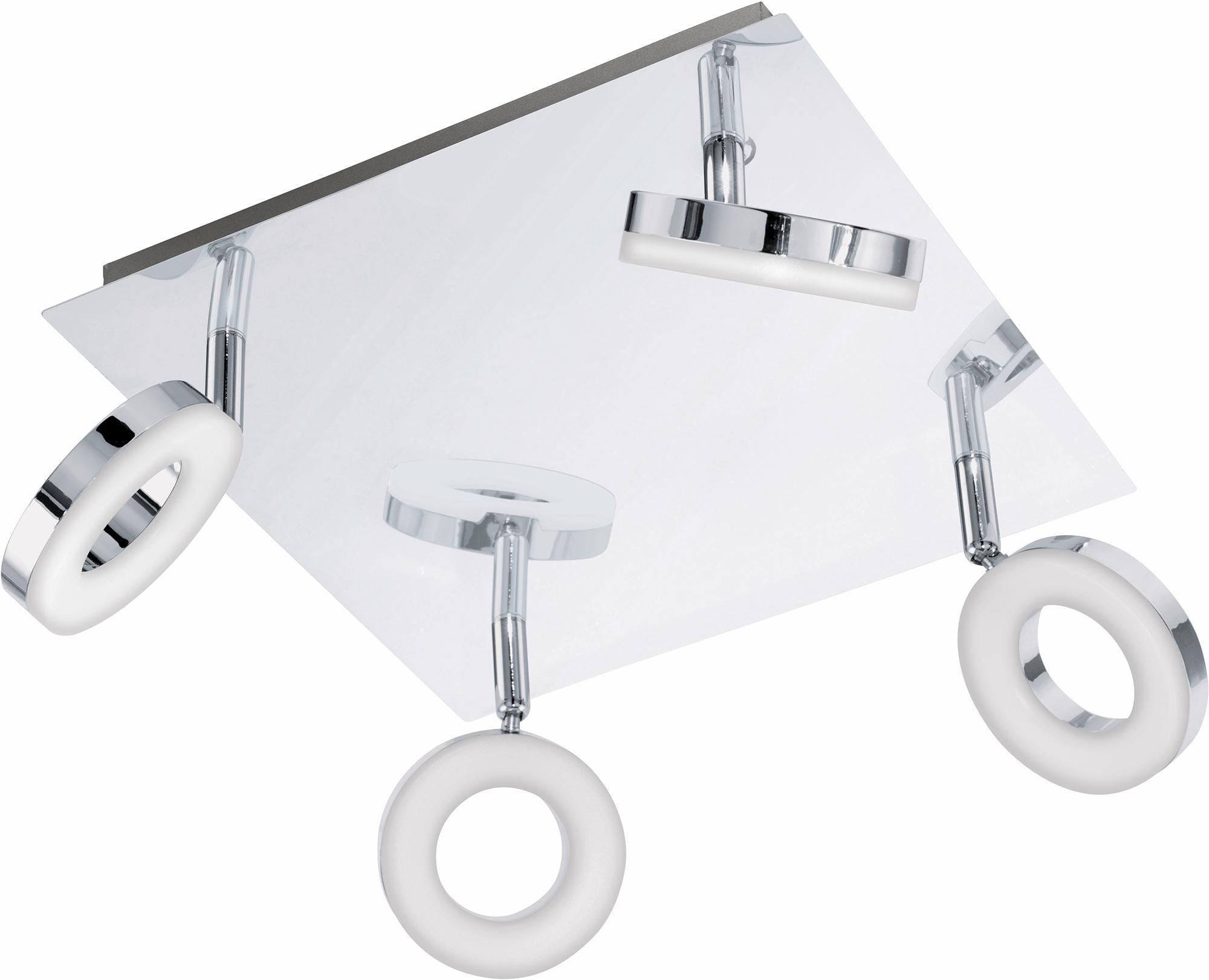 Eglo LED Deckenleuchte, Badleuchte, 4flg., 28x28 cm, »GONARO«