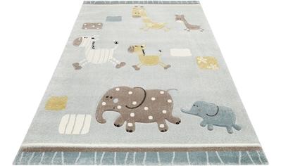 Esprit Kinderteppich »Kids Lucky Zoo 2.0«, rechteckig, 13 mm Höhe, Kinder Zoo Motiv... kaufen
