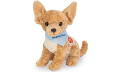 Teddy Hermann® Kuscheltier »Chihuahua mit blauem Halstuch, 27 cm«, mit individueller Bestickung kaufen