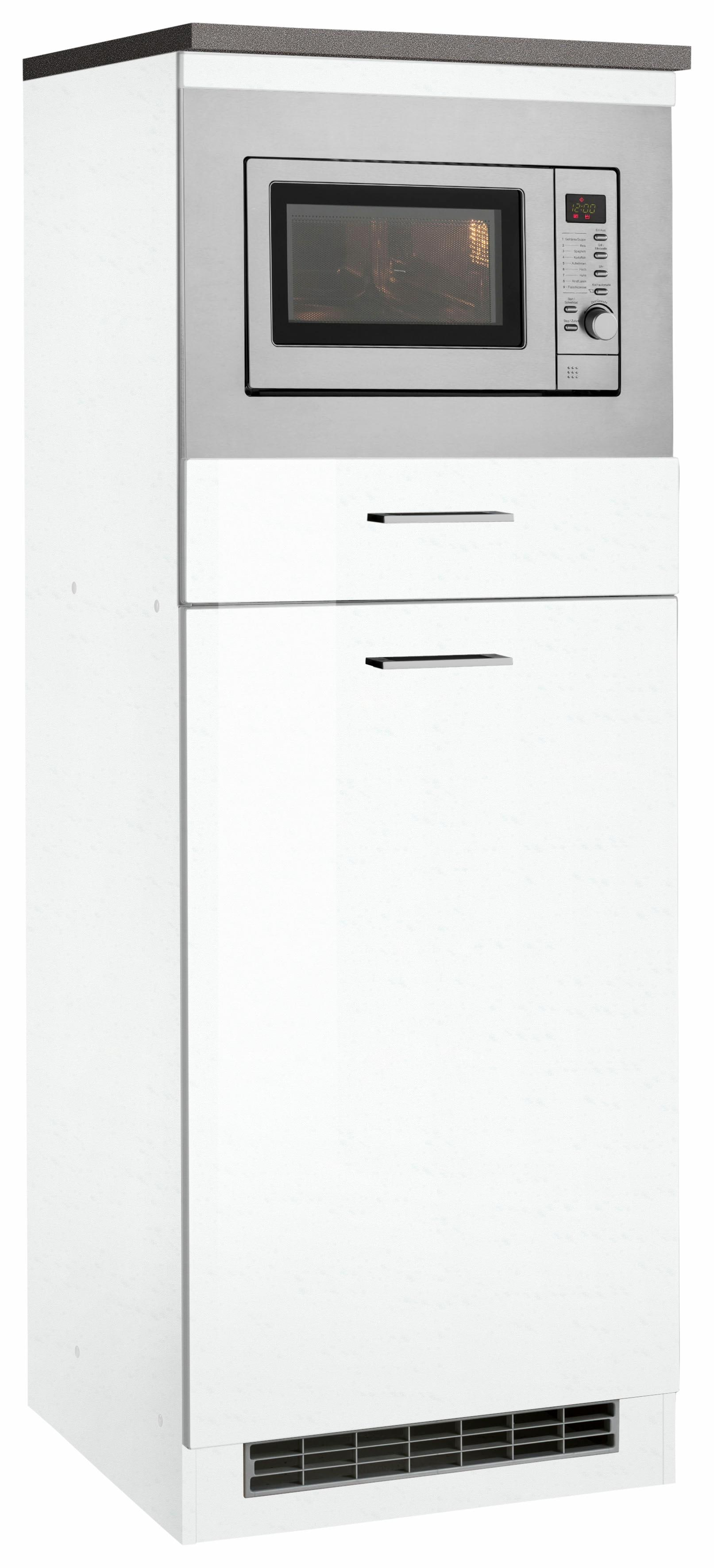 HELD MÖBEL Mikrowellenumbauschrank Graz inkl Mikrowelle | Küche und Esszimmer > Küchenelektrogeräte > Mikrowellen | Weiß | Held Möbel