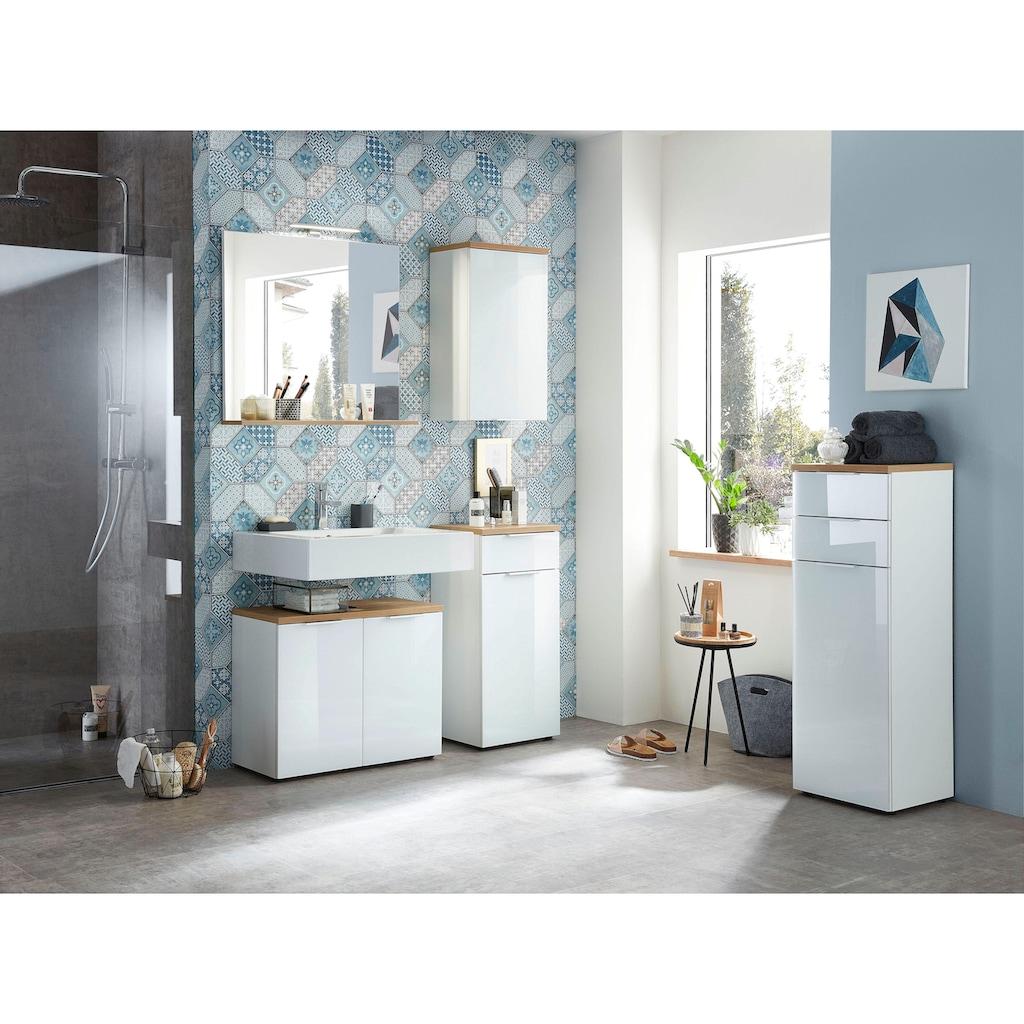 GERMANIA Waschbeckenunterschrank »Pescara«, Front mit Glasauflage