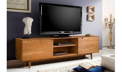Home affaire Lowboard »Scandi«, aus massivem Eichenholz, mit sehr viel Stauraum, Breite 180 cm kaufen