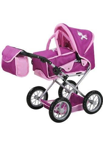 Knorrtoys® Kombi-Puppenwagen »Ruby, UMA. Das Einhorn, lila mit Wickeltasche« kaufen