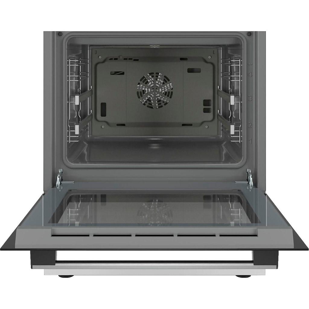 BOSCH Elektro-Standherd »HKR39C220«, 4, HKR39C220, mit 2-fach-Teleskopauszug, ecoClean Direct