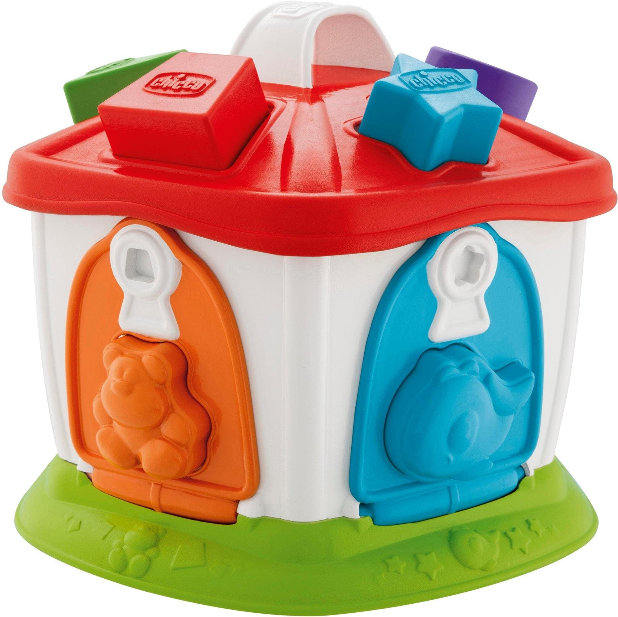 Chicco Steckspielzeug 2-in-1 Tierchen Zirkus bunt Kinder Steck- Stapelspielzeug Baby Kleinkind