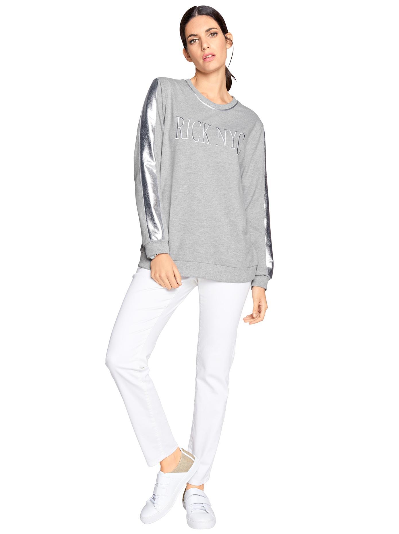 0d27c7d67a8bd3 création L Sweatshirt mit silberfarbigen Glamour-Details