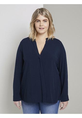 TOM TAILOR MY TRUE ME Wickelbluse »Bluse aus Viskose mit V - Ausschnitt« kaufen