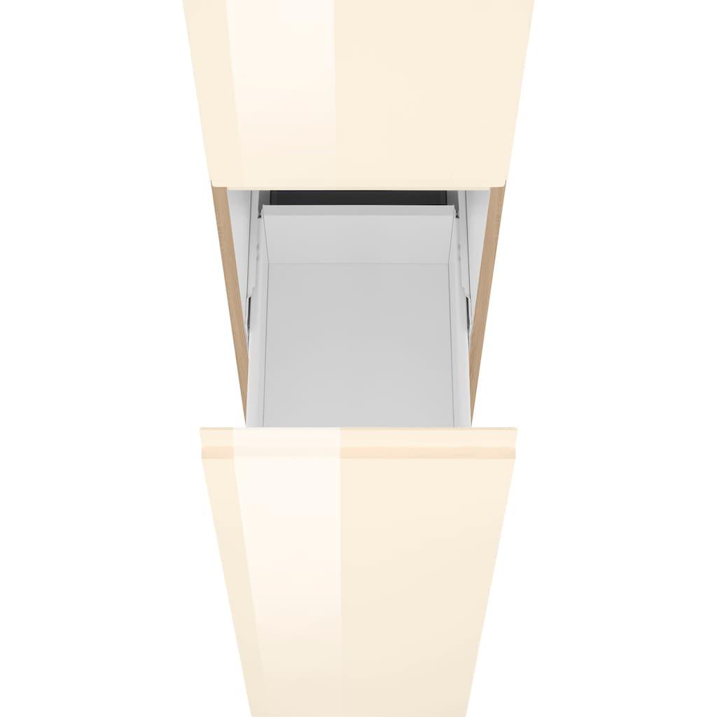 HELD MÖBEL Apothekerschrank »Virginia«, 200 cm hoch 30 cm breit, 2 Auszüge mit 5 Ablagen, hochwertige MDF-Fronten, griffloses Design
