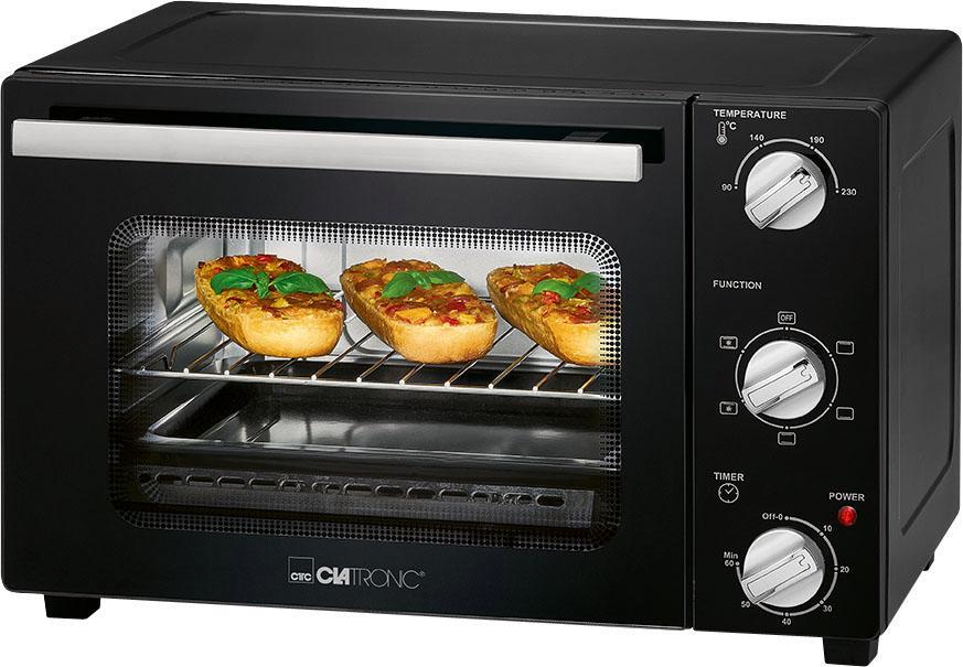 CLATRONIC Minibackofen MBG 3726 1300 W | Küche und Esszimmer > Küchenelektrogeräte > Küche Grill | Schwarz | Clatronic