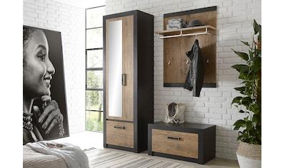 my home Garderoben - Set »BRÜGGE« (Komplett - Set, 3 - tlg bestehend aus Garderobenschrank mit Spiegel, Garderobenbank und  - paneel) kaufen