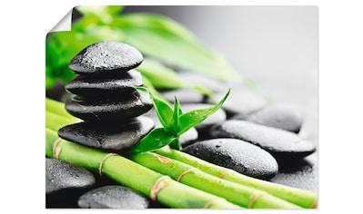 Artland Wandbild »Wachstum - Lavasteine Bambus«, Zen, (1 St.), in vielen Größen &... kaufen