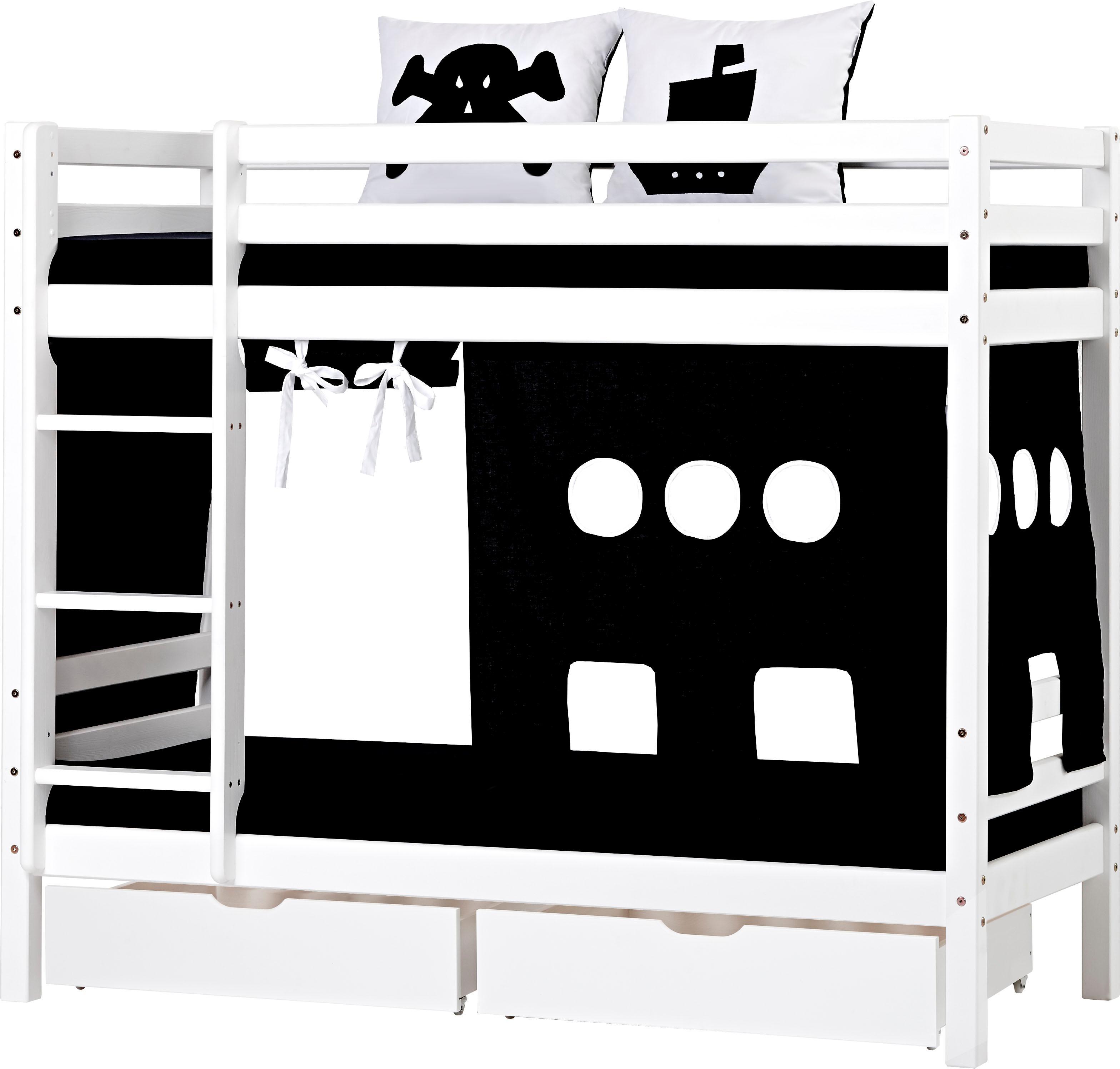 Hoppekids Etagenbett Pirat inkl Vorhang 2 Matratzen und 2 Rollroste