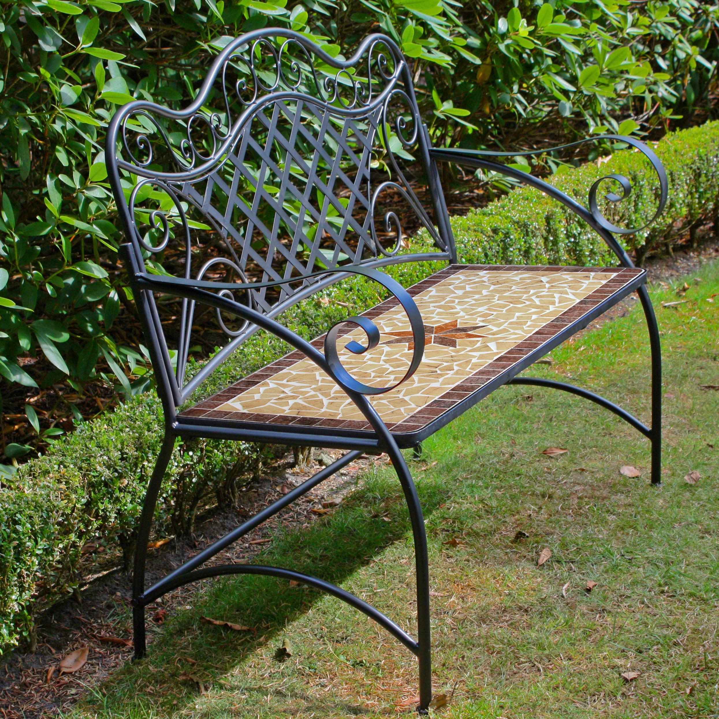 GARDEN PLEASURE Gartenbank Amarillo Stahl 115x57 cm