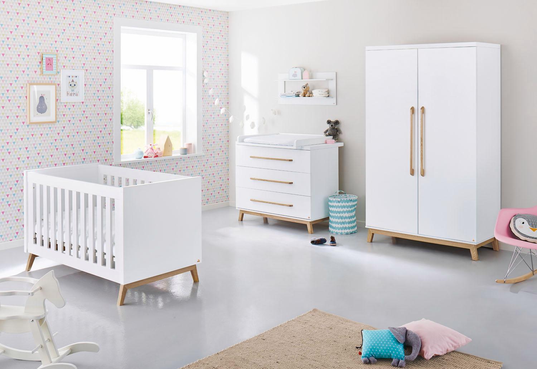 Pinolino Babyzimmer Set (3-tlg) Kinderzimmer, »Riva breit« | Kinderzimmer > Babymöbel > Komplett-Babyzimmer | Mdf - Esche | PINOLINO