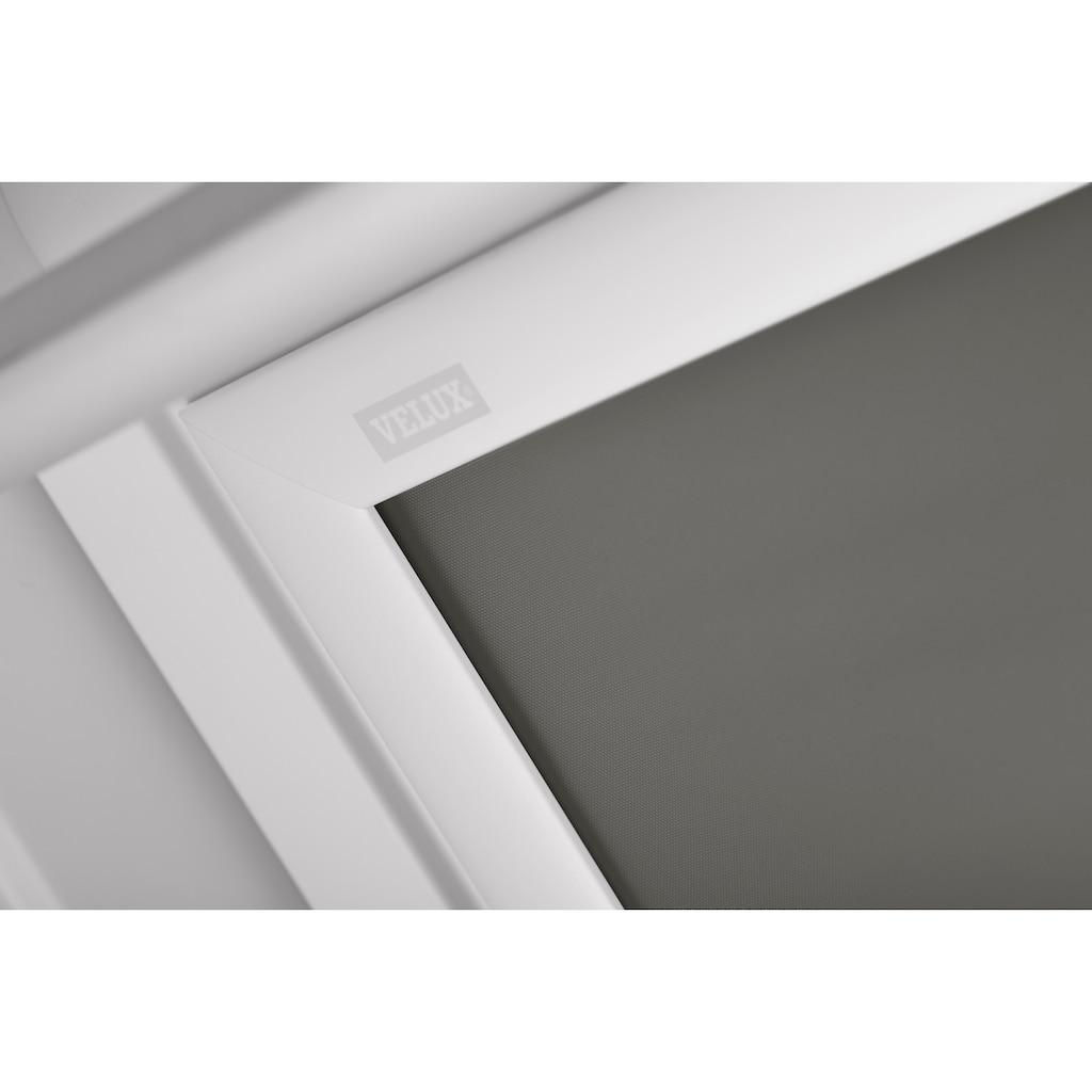 VELUX Verdunklungsrollo »DKL F06 0705SWL«, verdunkelnd, Verdunkelung, in Führungsschienen, grau