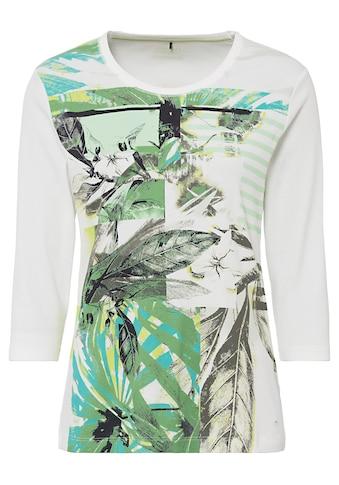 Olsen Rundhalsshirt, mit Streifen und Blättern kaufen