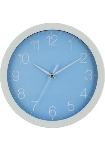 EUROTIME Wanduhr »Trend Alu Pastell Blau, 86138-00-1« kaufen